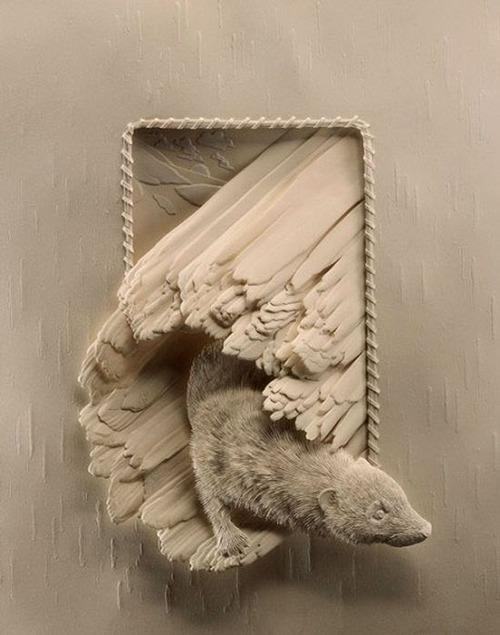 【画像】普通の紙で作る動物のペーパー・カッティング(切り絵)が凄い!!の画像(22枚目)