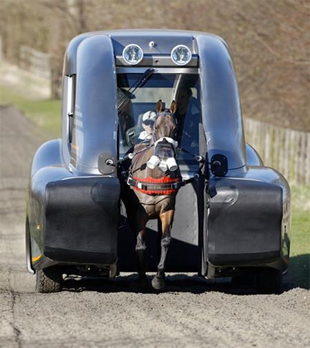 馬の力を利用した自動車の画像(5枚目)