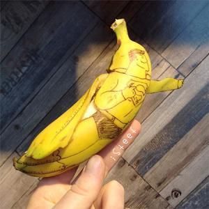 【画像】バナナに絵を描くアートがさらに進化しているwwの画像(12枚目)