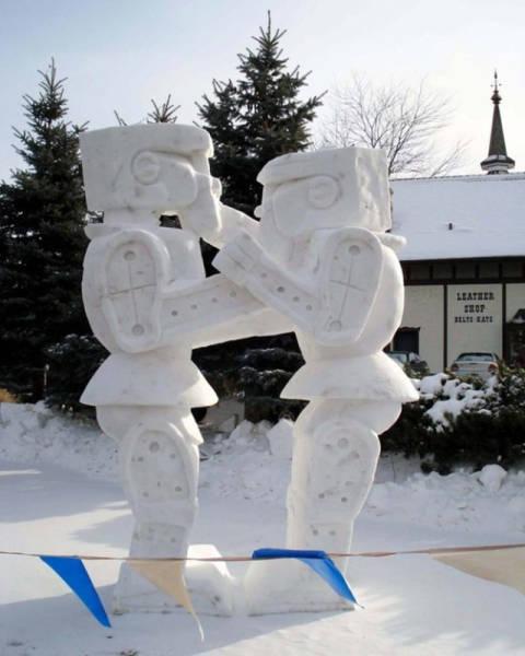 【画像】海外の雪祭りとか色々な雪像がやっぱ海外って感じで面白いwwwの画像(23枚目)