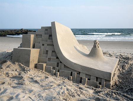 砂で作られた近代的なお城のアートの画像の数々!!の画像(2枚目)