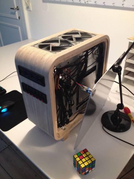 【画像】木製のパソコンケースを自作!カッコよくて落ち着いた木製パソコン!!の画像(13枚目)