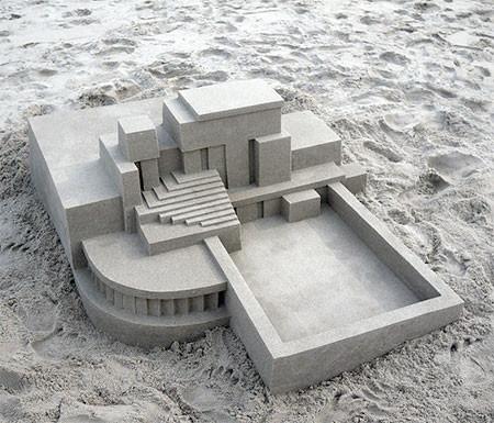 砂で作られた近代的なお城のアートの画像の数々!!の画像(3枚目)