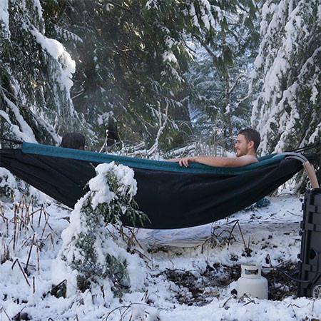 どこでも温泉気分!軽量!簡単!野外で使える移動式のお風呂セットwwwの画像(2枚目)