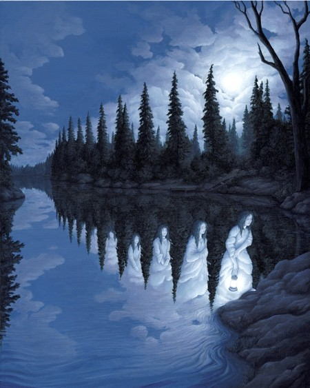 目の錯覚を利用した絵画09