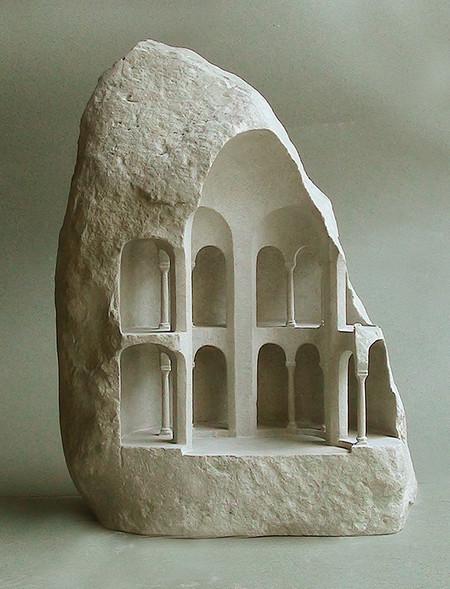 大理石を切り抜いて作った神殿のミニチュア04
