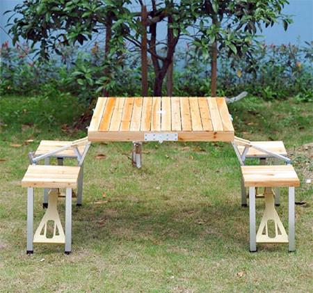 【画像】持ち運び簡単!鞄のように片手でもてる机と椅子のセット!!の画像(4枚目)