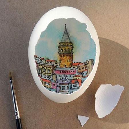 卵の中が別世界!卵の内側に絵を描くアートが面白い!!の画像(11枚目)