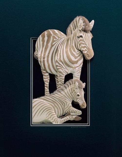 【画像】普通の紙で作る動物のペーパー・カッティング(切り絵)が凄い!!の画像(27枚目)