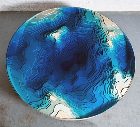 深海の地形がテーブルの画像(4枚目)