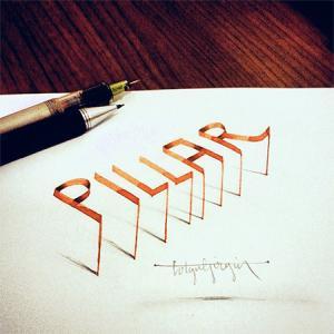 ノートにペンだけで描いた3Dの文字が凄い!!の画像(7枚目)