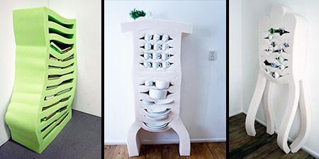ぐにゃぐにゃしてるけど地震に強い食器棚wwwの画像(1枚目)