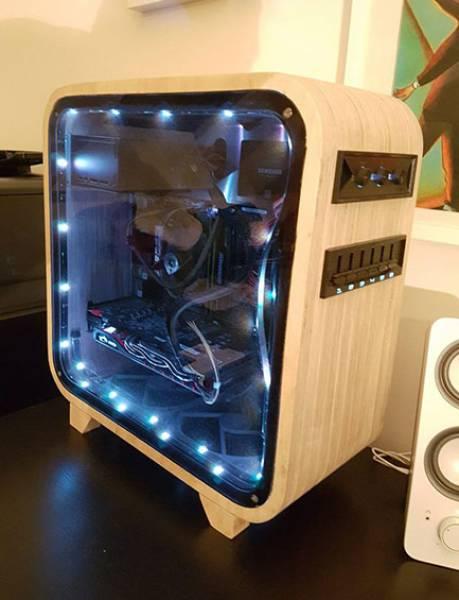 【画像】木製のパソコンケースを自作!カッコよくて落ち着いた木製パソコン!!の画像(16枚目)
