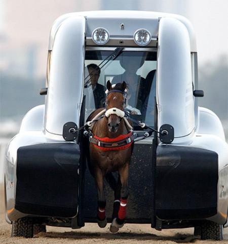 馬の力を利用した自動車の画像(1枚目)