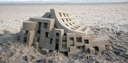 砂で作られた近代的なお城のアートの画像の数々!!の画像(1枚目)