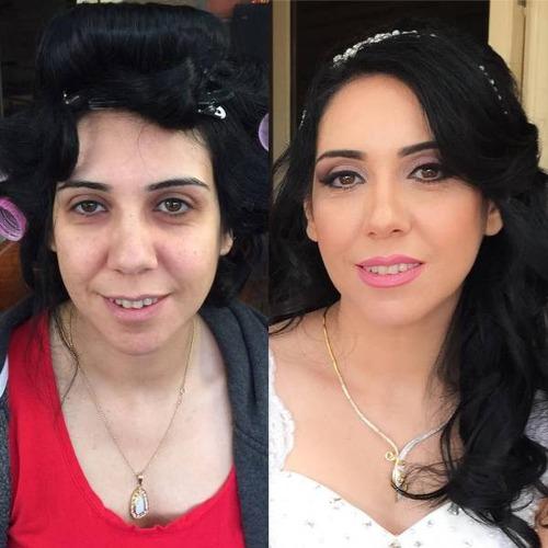 女性の化粧をする前と後の画像(20枚目)