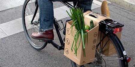 地球に優しい!手で持って運べる自転車用のバック!!の画像(1枚目)