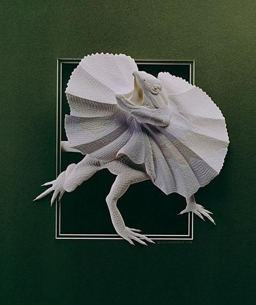 【画像】普通の紙で作る動物のペーパー・カッティング(切り絵)が凄い!!の画像(29枚目)