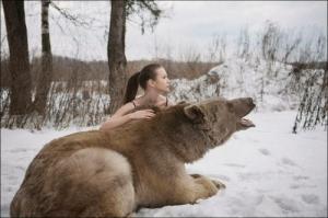 恐ロシア!300kgのヒグマとロシア美人のアート写真が凄い!!の画像(17枚目)