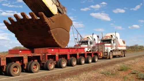 6台の巨大なトラックで超巨大なショベルカーを運ぶ風景が凄いwwの画像(4枚目)