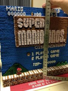 スーパーマリオのタイトルを爪楊枝で再現した画像6