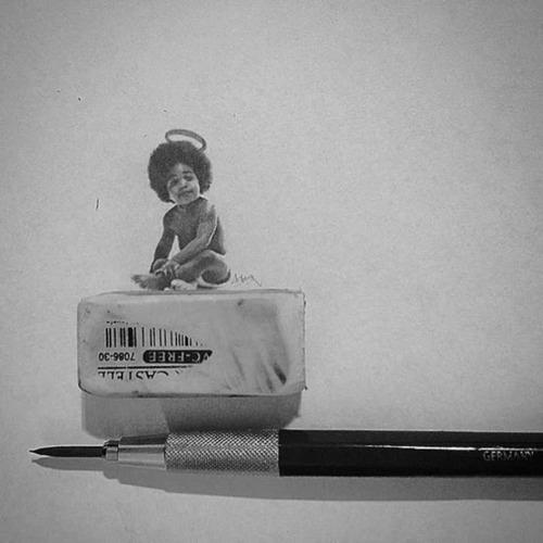 鉛筆やシャーペンで描いた小さいけど凄いクオリティの画像の数々!!の画像(12枚目)
