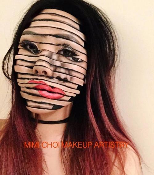 顔面が崩壊しているフェイスペイントの画像(5枚目)