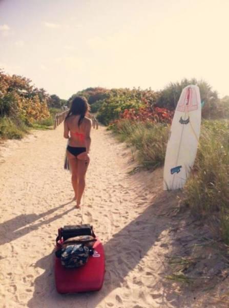 可愛くて魅力的なサーフィンしている女の子の画像の数々!!の画像(19枚目)