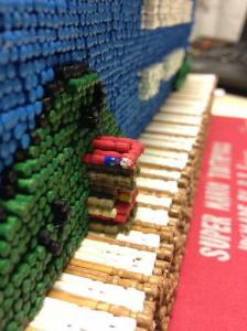 スーパーマリオのタイトルを爪楊枝で再現した画像5