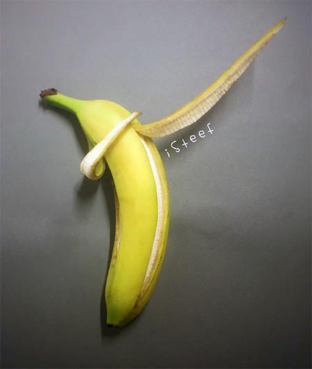 バナナのカービングアート2