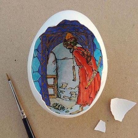 卵の中が別世界!卵の内側に絵を描くアートが面白い!!の画像(12枚目)