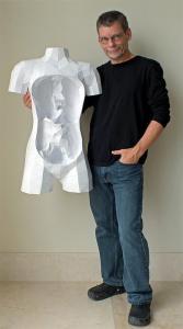 紙を使ったペーパークラフトの人体模型がなんだか凄い!!の画像(6枚目)