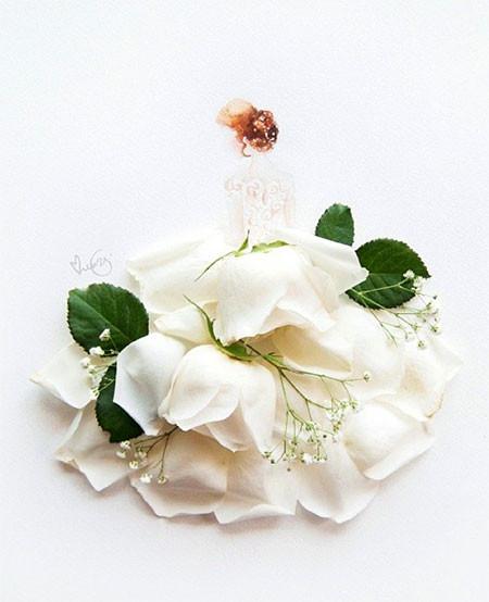 本物の花で描いたアートが華やかで癒される!!の画像(16枚目)