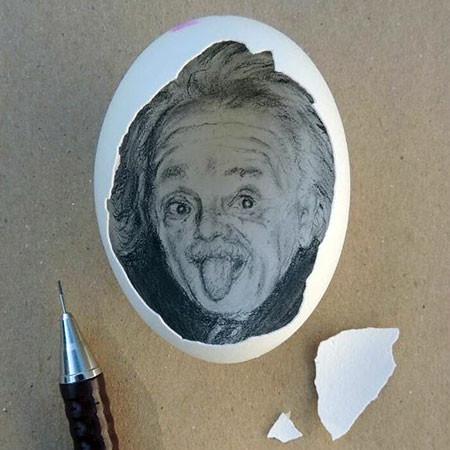 卵の中が別世界!卵の内側に絵を描くアートが面白い!!の画像(6枚目)