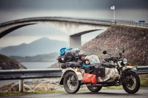 【画像】1台のバイクで家族3人が41カ国を4ヶ月で制覇!!の画像(10枚目)