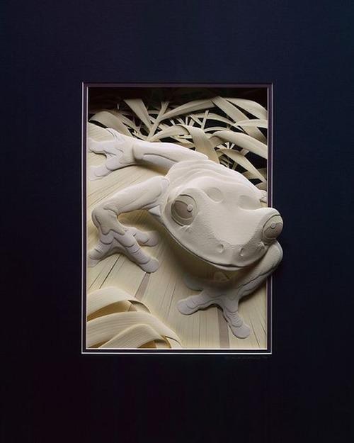【画像】普通の紙で作る動物のペーパー・カッティング(切り絵)が凄い!!の画像(10枚目)