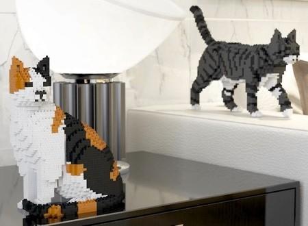 レゴで作ったネコの置物10