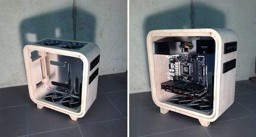 【画像】木製のパソコンケースを自作!カッコよくて落ち着いた木製パソコン!!の画像(12枚目)
