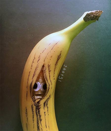 バナナのカービングアート16