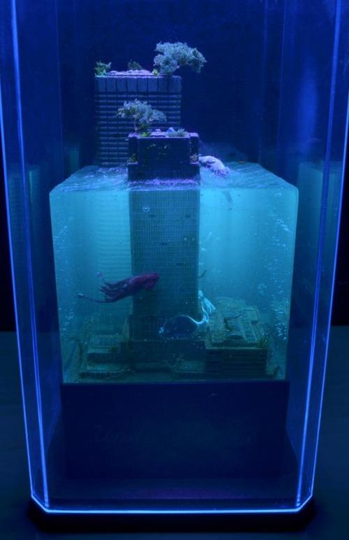 【画像】小さいのに超リアル!水没都市のジオラマが凄い!!の画像(10枚目)