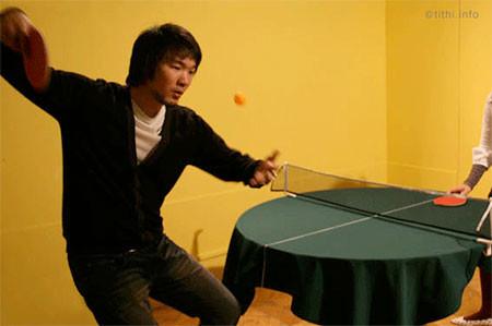 どこでも卓球台!!にできるテーブルクロスが魅力的wwwの画像(3枚目)