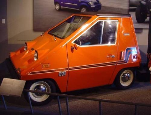 変ったデザインの自動車の画像(1枚目)