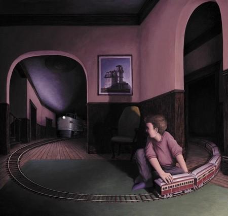 目の錯覚を利用した絵画10