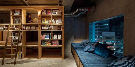 本屋と宿泊施設が合体したホテルが魅力的!!の画像(1枚目)