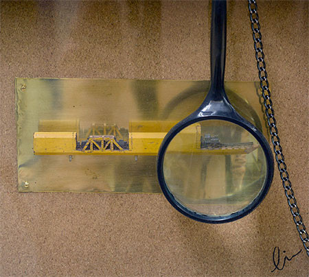 画像】鉄道模型のように鉛筆を加工したアートが凄い!!の画像(5枚目)