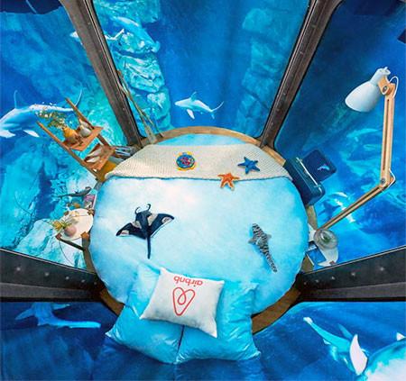 【画像】360度、水に囲まれたお部屋に泊まれるホテルが凄い!!!の画像(3枚目)