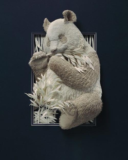 【画像】普通の紙で作る動物のペーパー・カッティング(切り絵)が凄い!!の画像(25枚目)