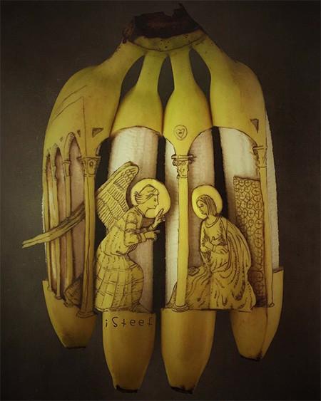 バナナのカービングアート10