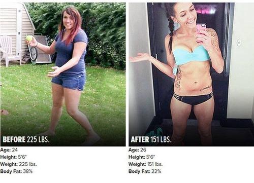 やればデキル!ダイエット肉体改造のビフォーアフターの画像の数々!!の画像(4枚目)
