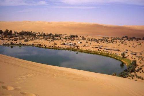 サハラ砂漠にある小さなオアシスが美しすぎて凄い!の画像(9枚目)
